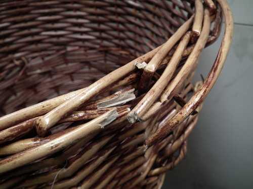 broken wicker basket