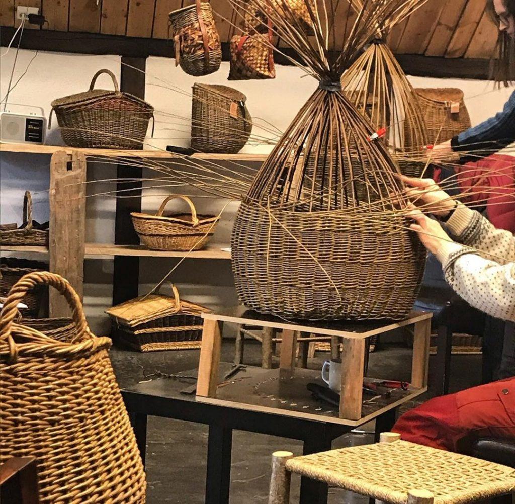 making of wicker basket
