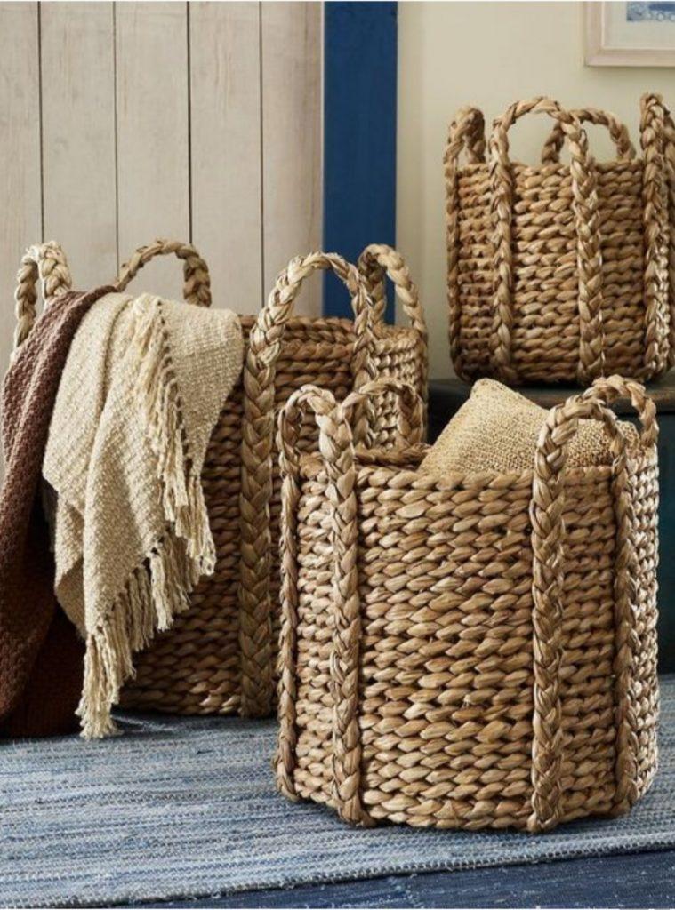 different sized  wicker baskets