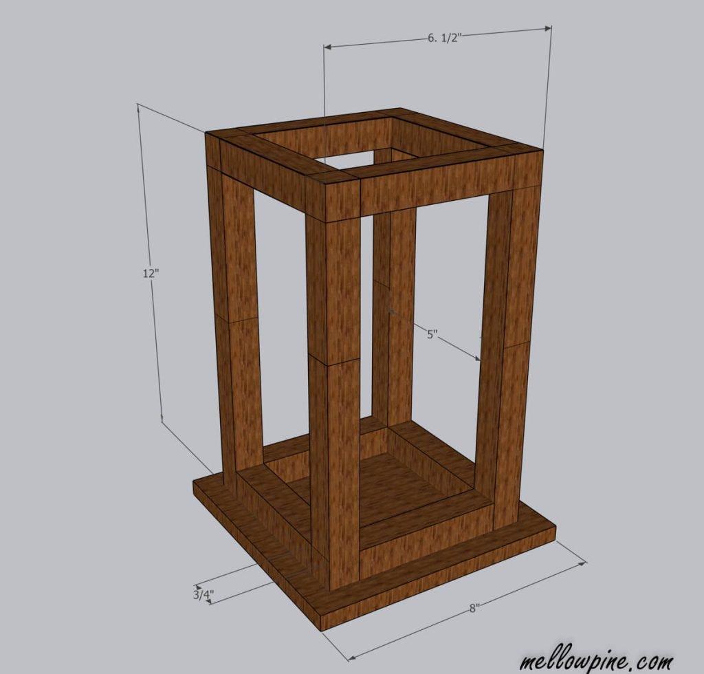wood lantern plan