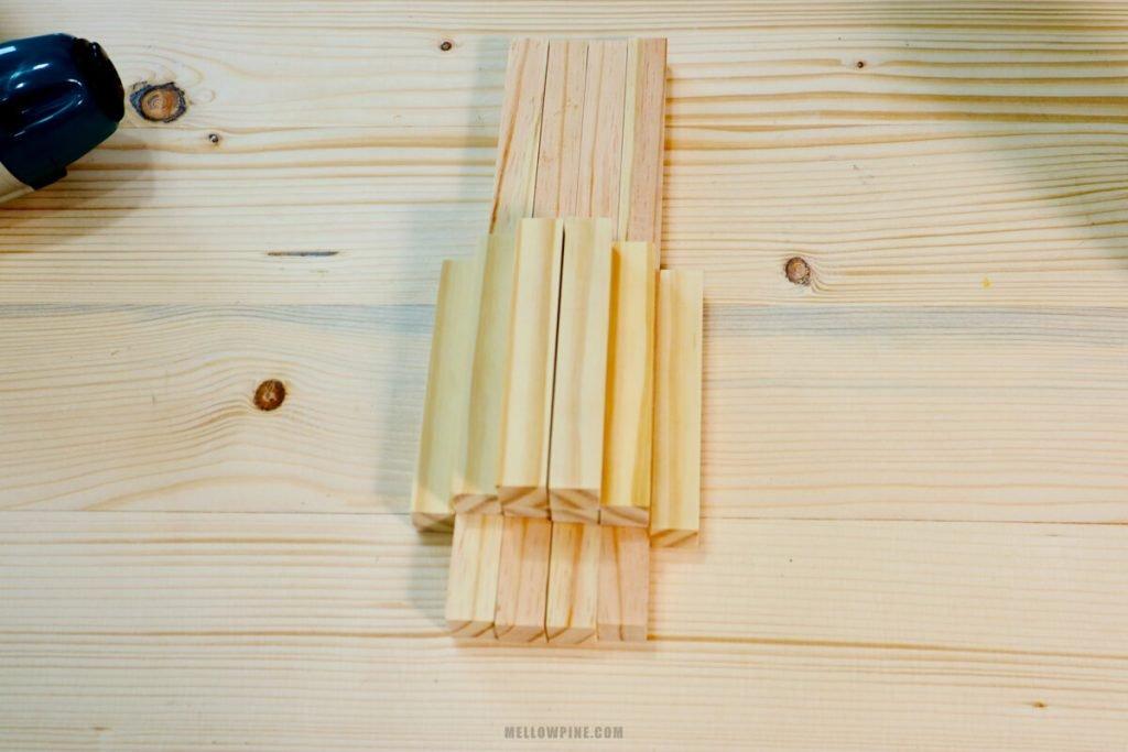 12 wood pieces