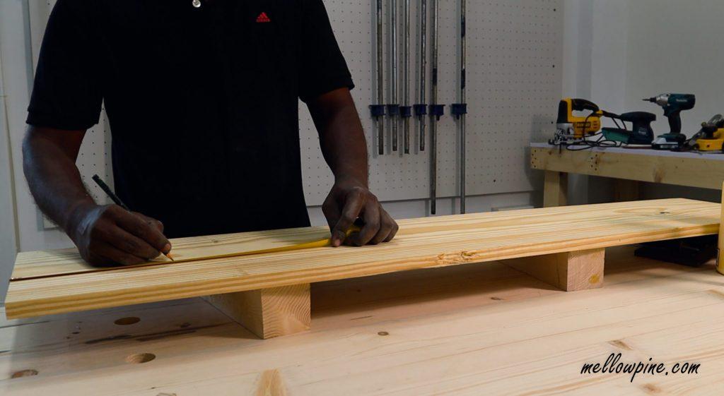 measuring the wood base