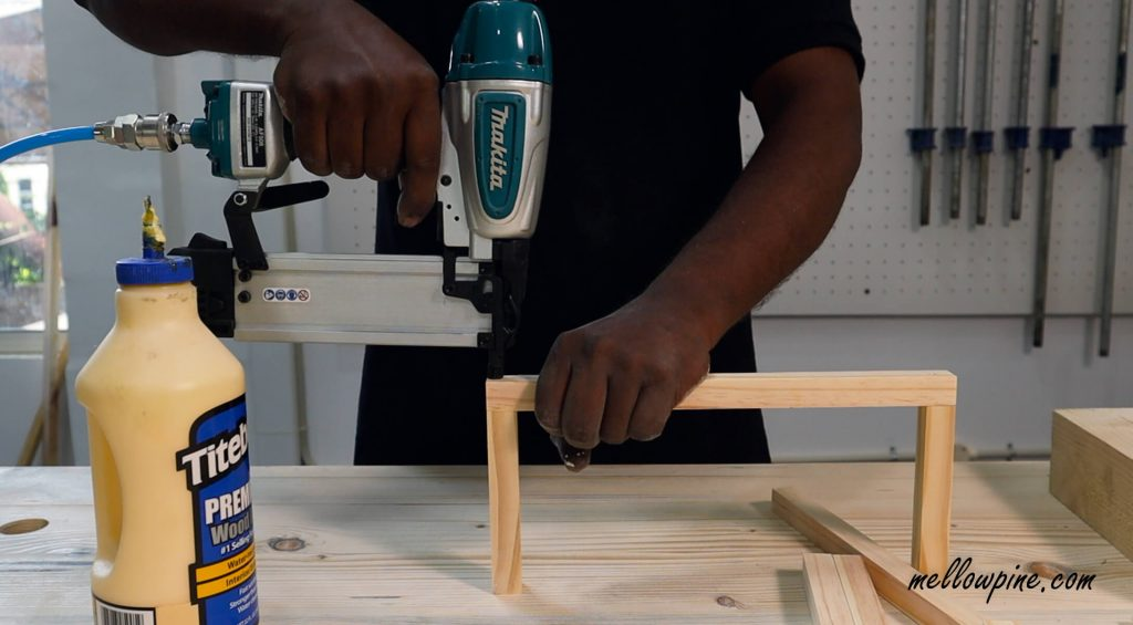 nailing the wood pieces