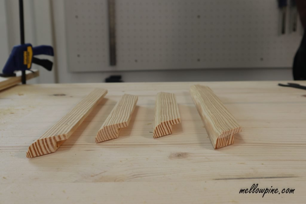 routed wood pieces