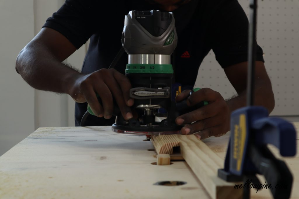 routing wood pieces