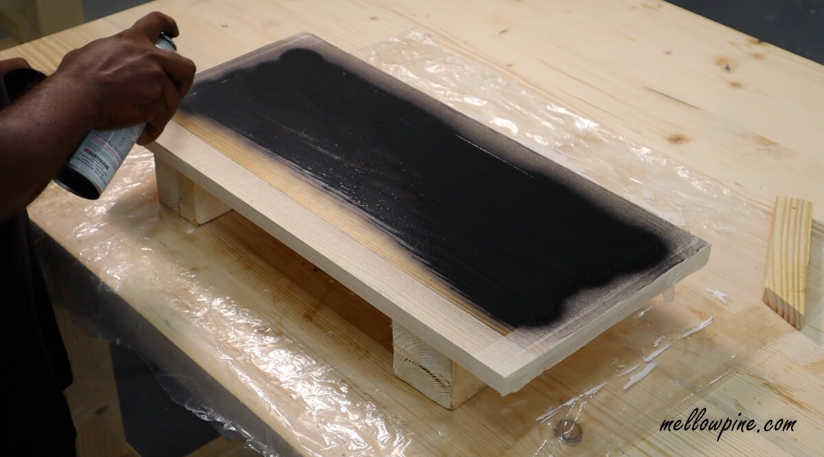spray painting boards