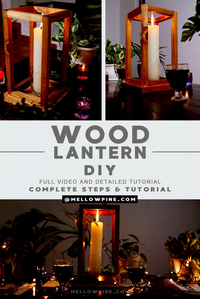 wood lantern DIY pin