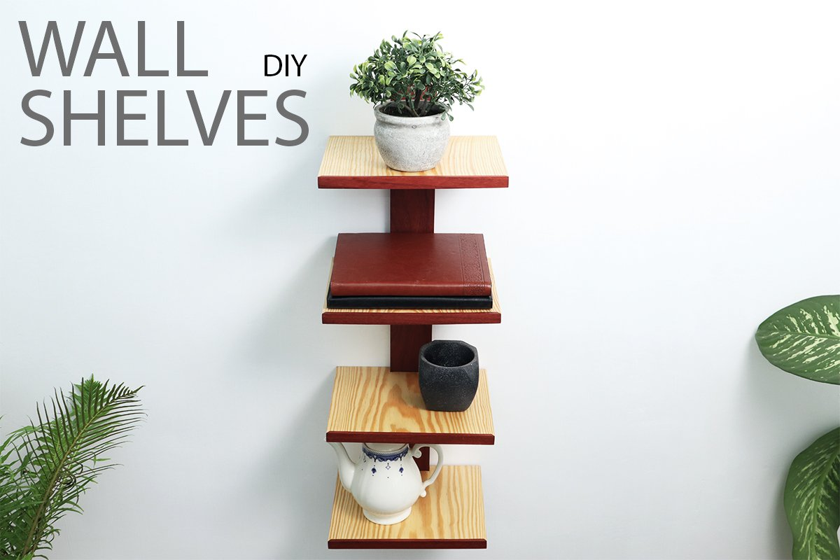 DIY Vertical Spine Column Bookshelf
