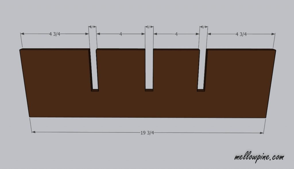 Plan for 19 inch pieces