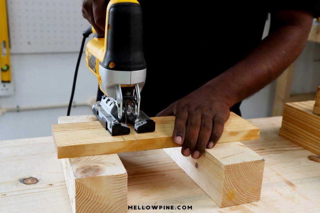 cutting wood with jigsaw