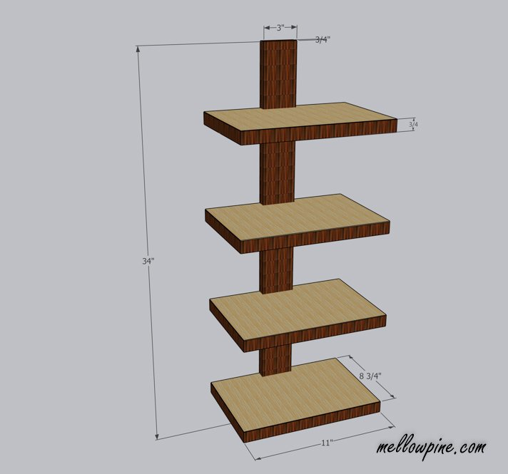 Column Wall Shelf Plan