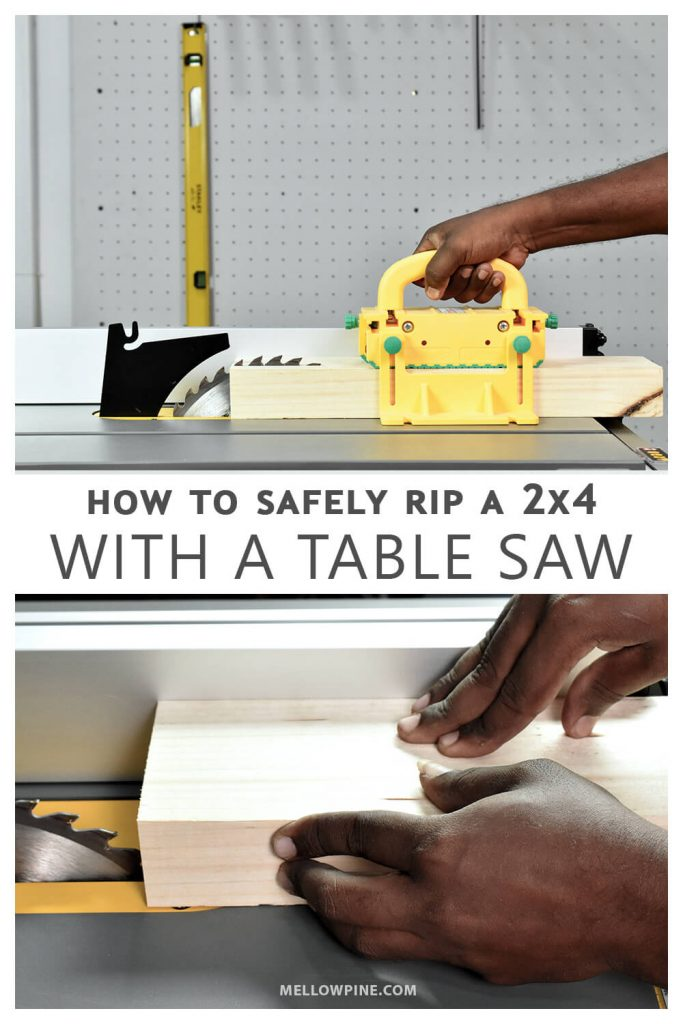 how to safely rip a 2x4 with a table saw