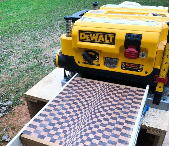 Can you plane end grain cutting board ?
