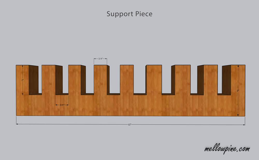 Plan for support piece of the bench