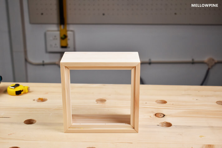 Completed box frame