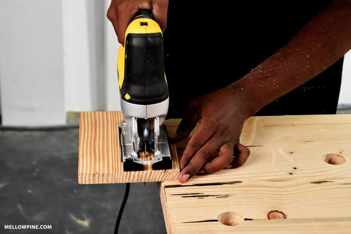 Cutting the slot out using a jigsaw