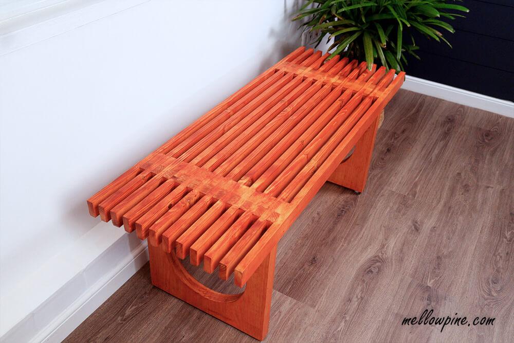 DIY Wooden Indoor Bench