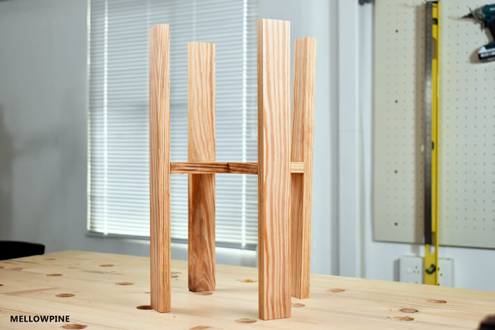 DIY Three Legged Plant Stand