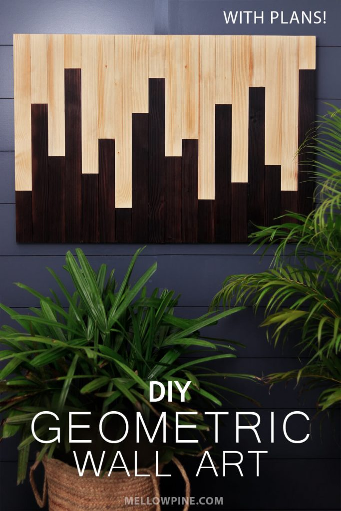 DIY Burned Wood Geometric Wall Art