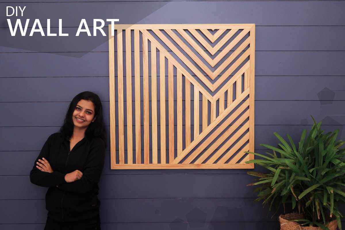 DIY Geometric Wood Wall Art Tutorial