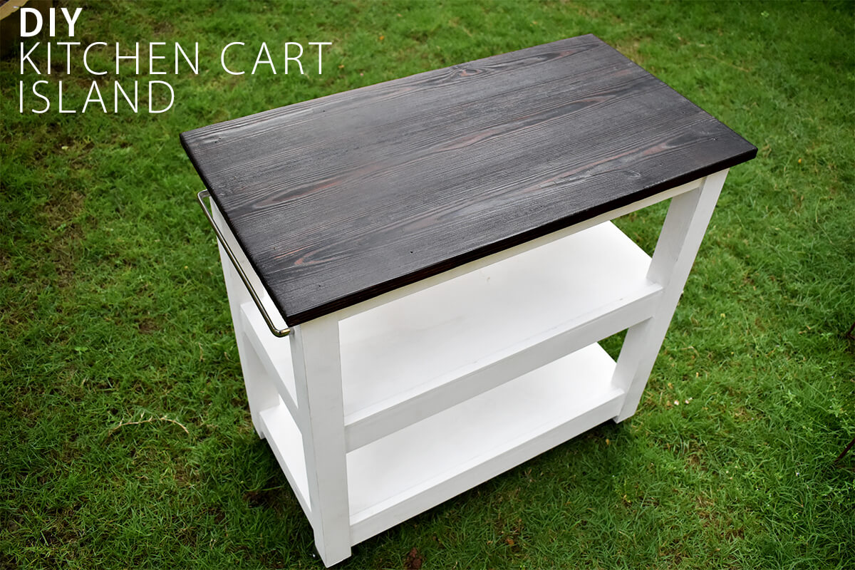 DIY Kitchen Cart on Wheels-Tutorial with Plans