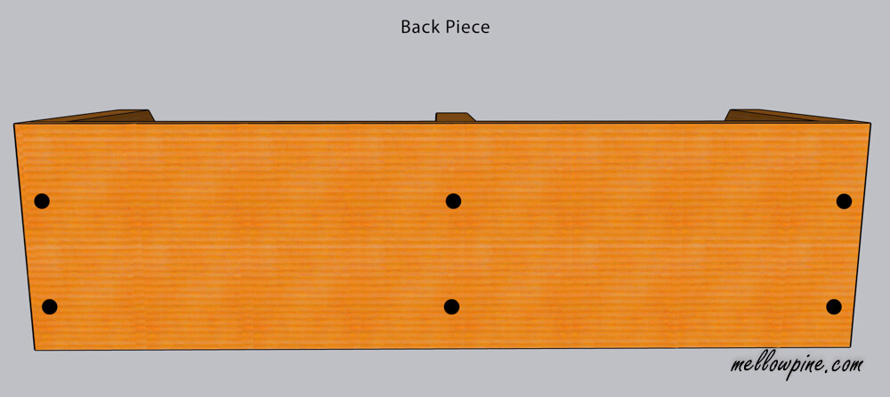 back-piece screw locations