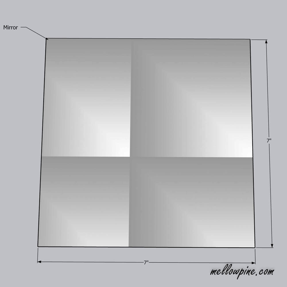 Size of the mirror