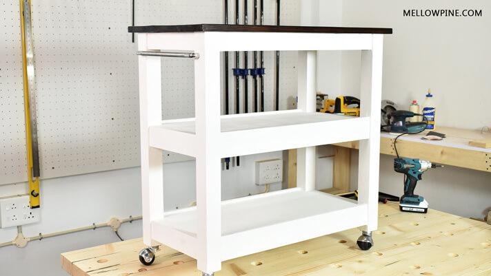 DIY Kitchen Cart on Wheels
