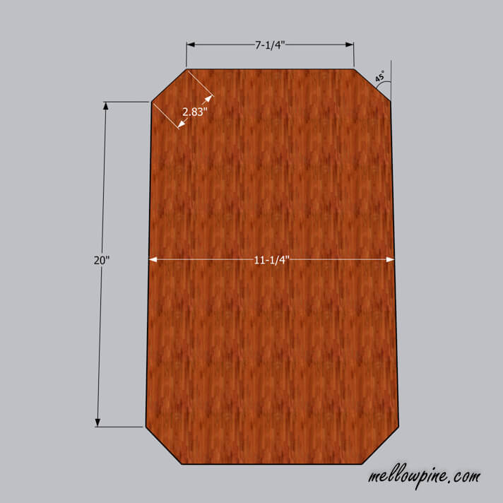 DIY Wooden Stool Plan-Top View