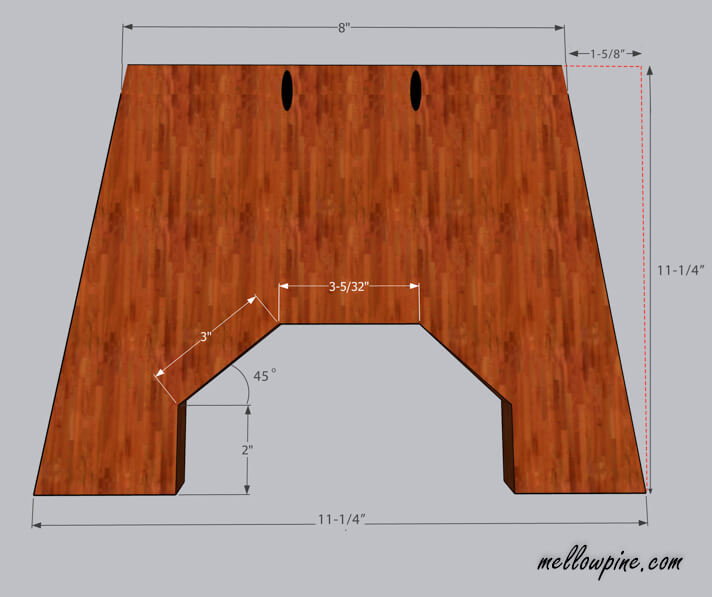 Wooden Stool-Leg Piece Plan