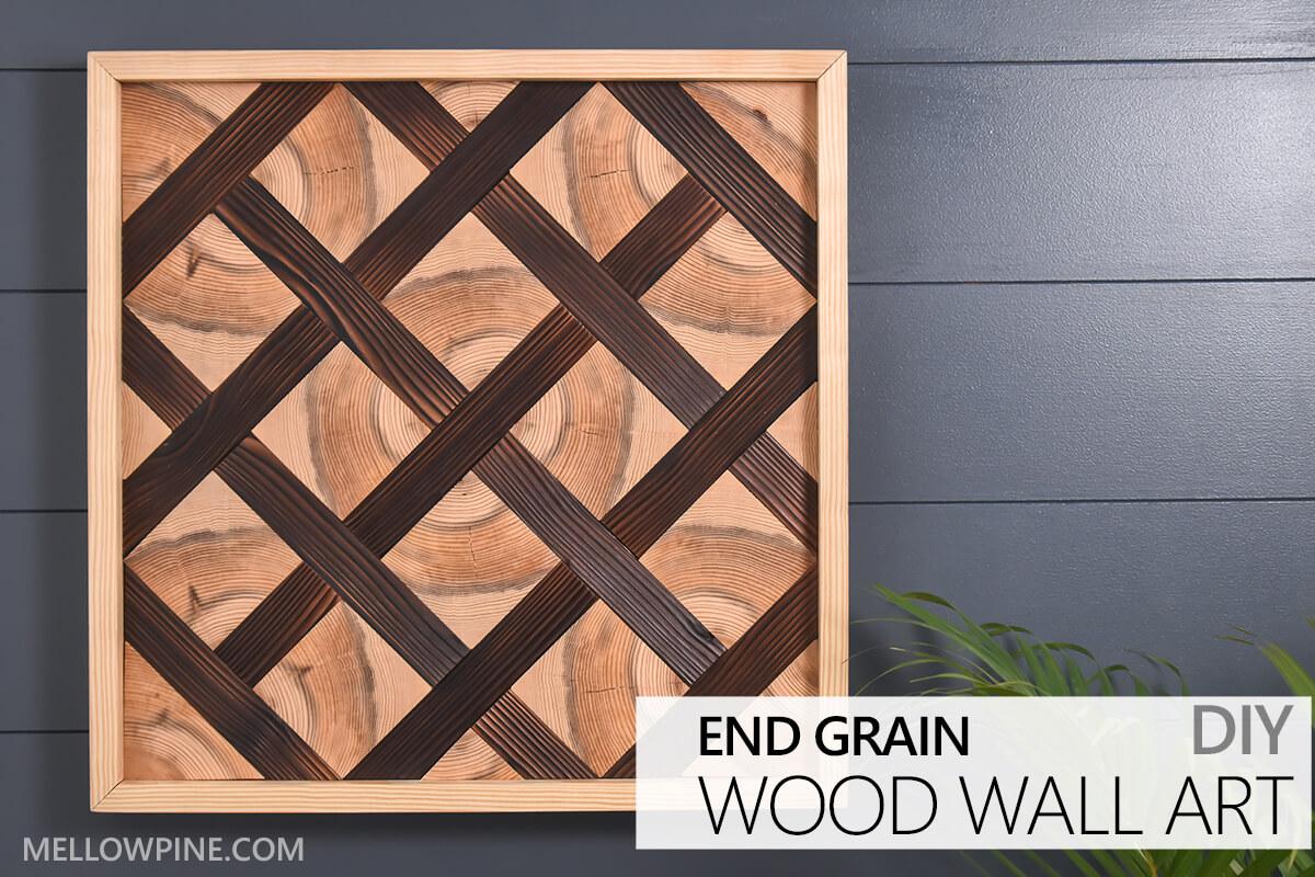 DIY End Grain Geometric Wood Wall Art Tutorial