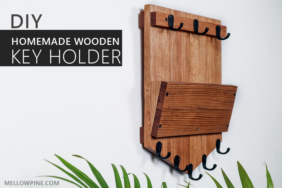 Homemade DIY Wooden Key Holder for Wall