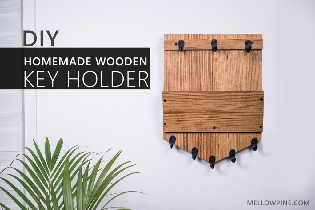 Homemade DIY Wooden Key Holder