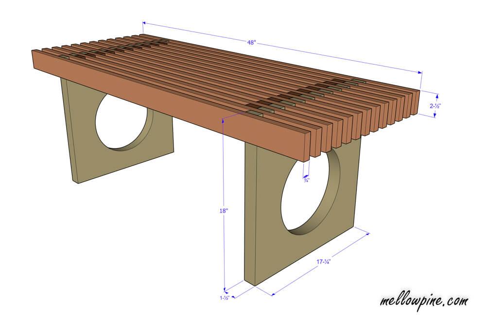 Indoor Wooden Bench Plan