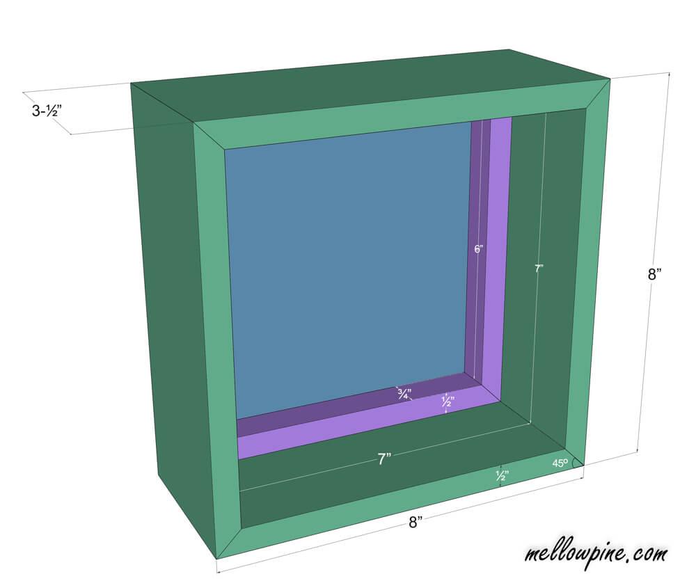 DIY Wall Mounted Box Mirror Plan