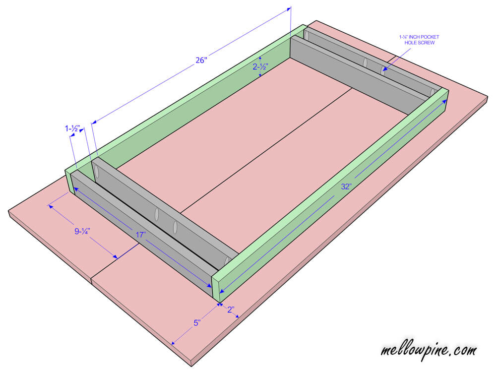 Plan for the table top component