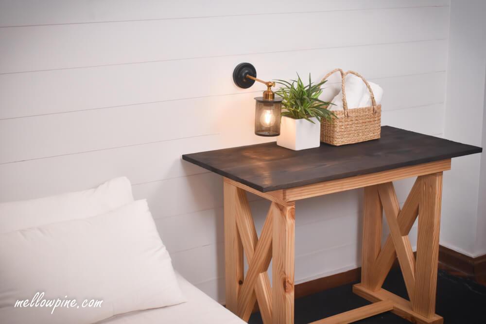 DIY Packable X Brace Desk