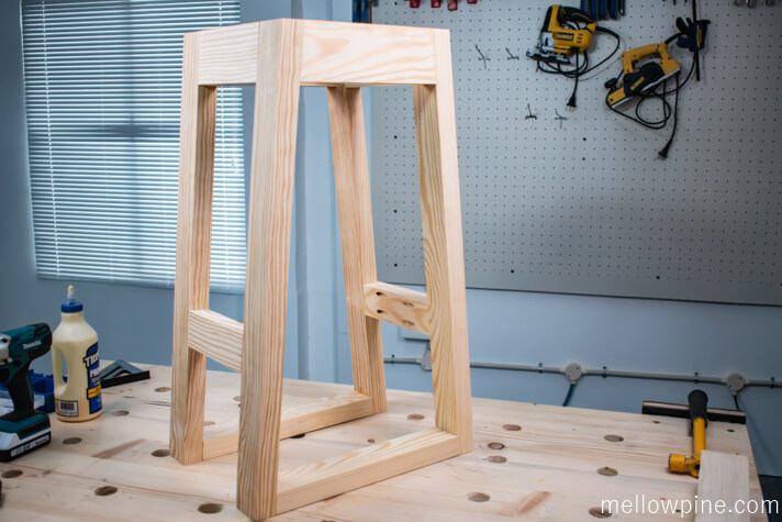 Completed frame of the bar stool