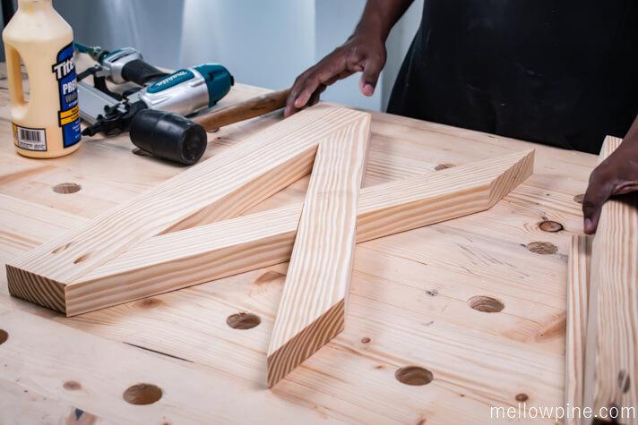 making the leg frame