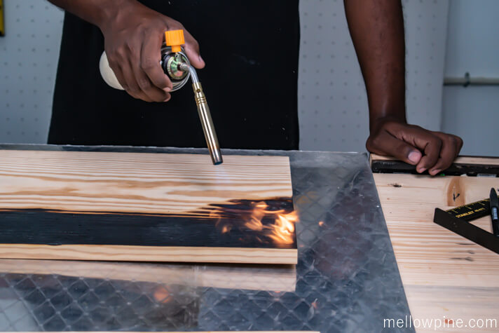 Burning the panel pieces