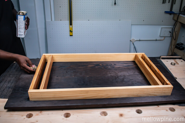 Staining with teak oil
