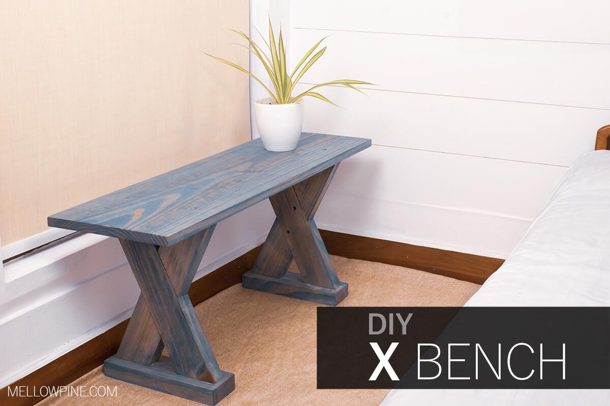 Easy DIY X Bench
