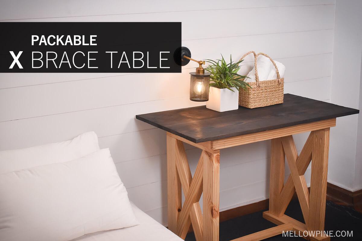 DIY Packable X-Brace Desk