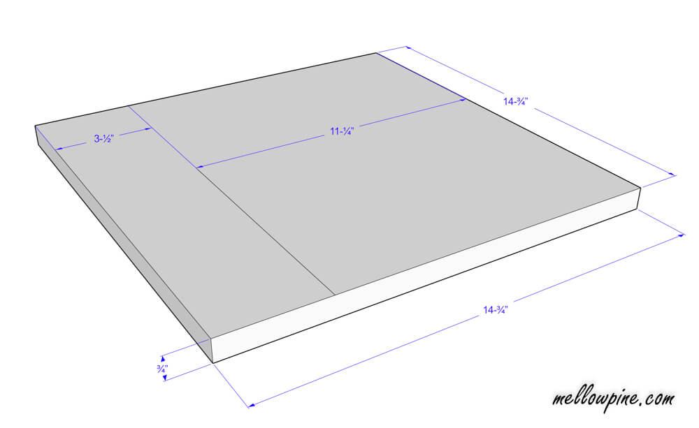 Bar Stool Top Piece Plan