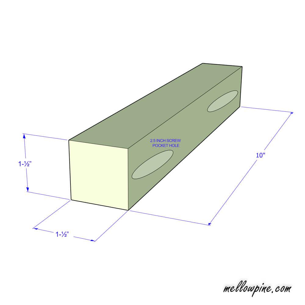 Horizontal Bracing piece plan