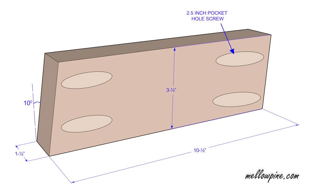 Bar Stool Mitered Brace Piece Plan