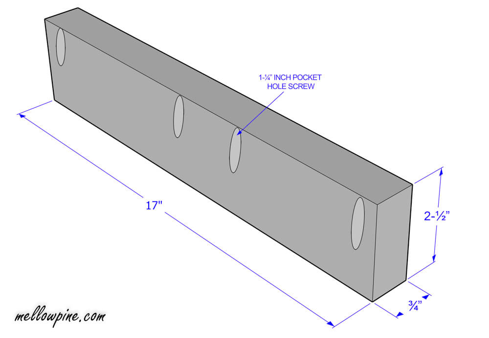 Plan for short piece in the slot frame on the table top