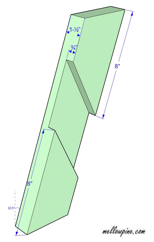 X Brace piece plan
