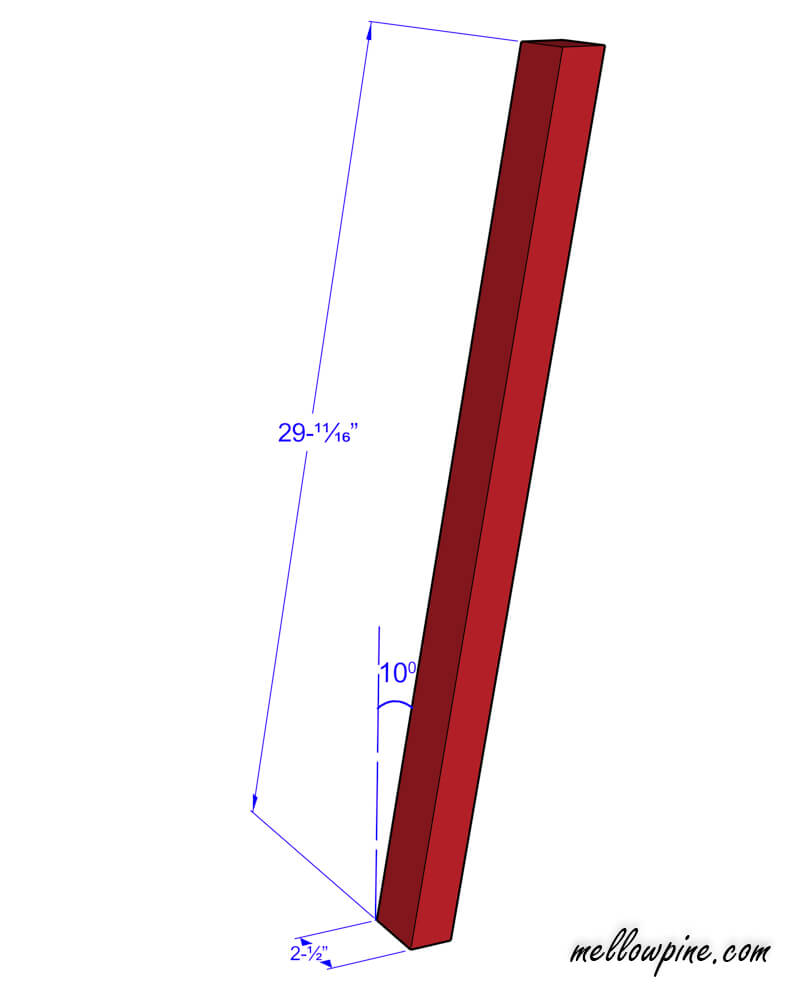 Bar Stool Slanting leg piece plan