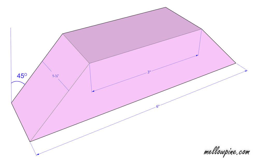 Inclined bracing piece plan